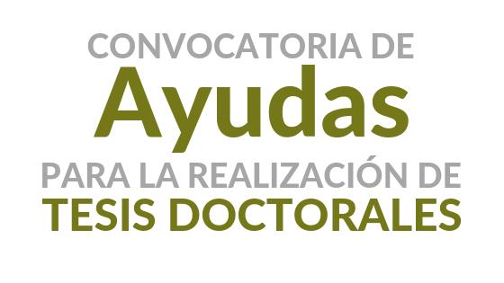 RESOLUCIONES DEFINITIVAS – Ayudas a la realización de Tesis Doctorales – Convocatoria 2020