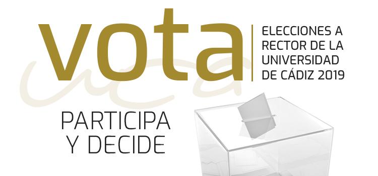 ¿Estas doctorando? ¡Tu voto cuenta! – Elecciones a Rector/a de la Universidad de Cádiz
